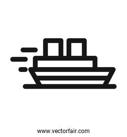 boat maritime transport line style icon