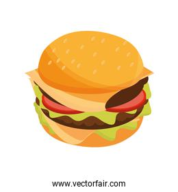 burger delicious fast food flat style icon