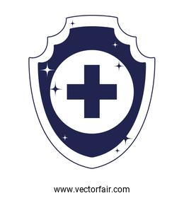medical shield protection isolated over white