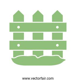 wooden fence icon, silhouette style