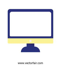computer screen monitor isolated icon on white background