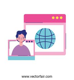 education online, student web site world connection
