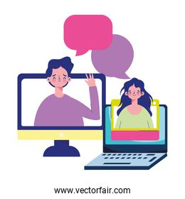 education online, students in computer laptop distance course