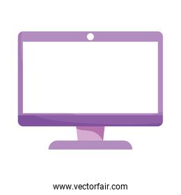 computer screen device technology isolated icon design