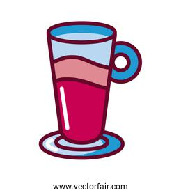drink glass icon, fill style design