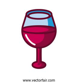 oversized wine glass icon, fill style icon