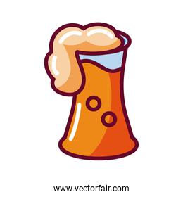 beer glass icon, fill style design