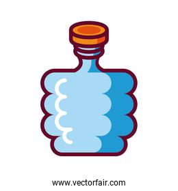liquor portable flask icon, fill style design