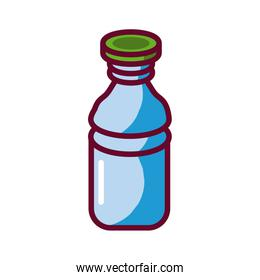 plasctic bottle icon, fill style design