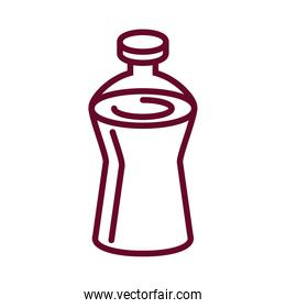 water bottle icon, line style design
