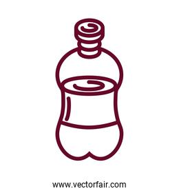 soda bottle icon, line style design