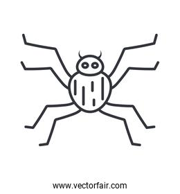 small spider icon, line detail style