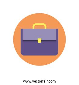Isolated suitcase bag vector design