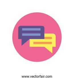 Isolated communication bubbles vector design