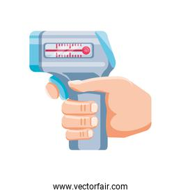 medical instrument thermometer on white background