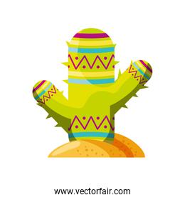 cute cactus on white background