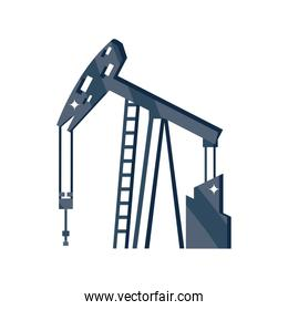 oil extraction, oil industry on white background