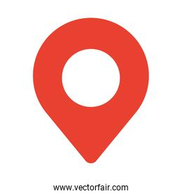pin pointer location isolated icon