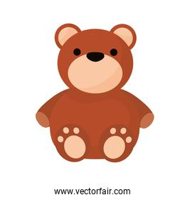 bear teddy child toy isolated style icon