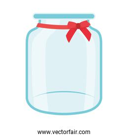 donation jar glass isolated icon