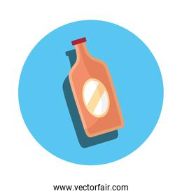 bottle glass product isolated icon