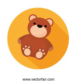 bear teddy child toy isolated icon