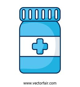medicine bottle drug isolated icon