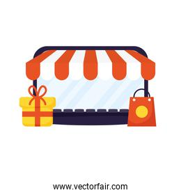 laptop computer with parasol store and gift