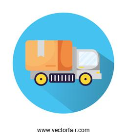 truck delivery service isolated icon