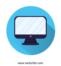 desktop computer monitor isolated icon