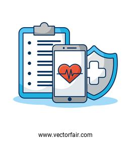 smartphone with shield and order medical