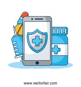 smartphone with drugs telemedicine technology