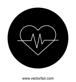 medical heart cardiology pulse icon