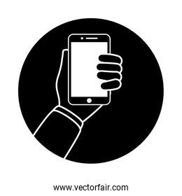 hand using smartphone device technology