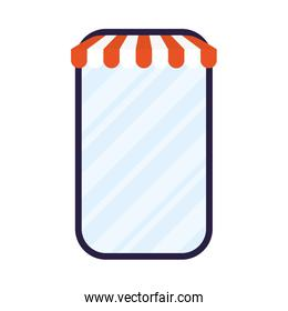 smartphone with parasol ecommerce technology