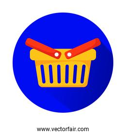 shopping basket marketing isolated icon