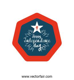 Decorative design of United Stated independence day concept, flat design