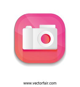 mobile app buttons concept, camera icon,  detailed  design