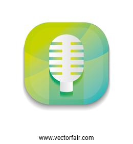 mobile app buttons concept, microphone icon,  detailed  design
