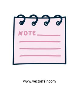 note pad icon, line and fill style