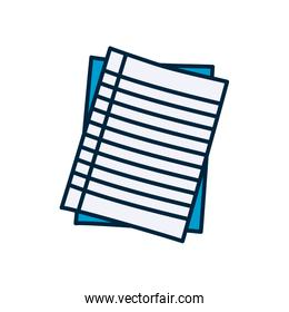 notebook striped pages icon, line and fill style