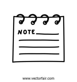note pad icon, line style