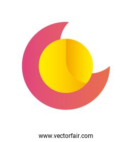 Abstract circle shape gradient style icon vector design