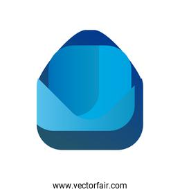 Isolated envelope gradient style icon vector design