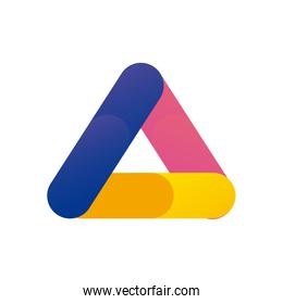 Abstract triangle shape gradient style icon vector design