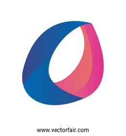 Abstract oval shape gradient style icon vector design