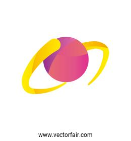 Abstract sphere shape gradient style icon vector design