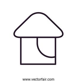House line style icon vector design