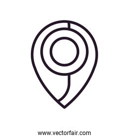 Isolated gps mark line style icon vector design