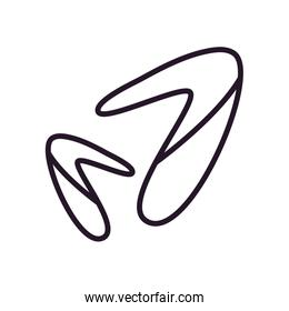 Abstract boomerangs shapes line style icon vector design
